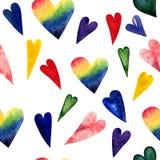心脏的无缝的样式为情人节 跌荡的爱 向量例证