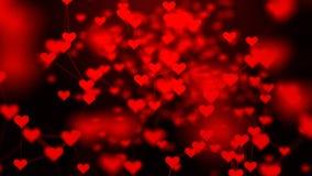 心脏的美丽的结节 华伦泰` s天与心脏的摘要背景 向量例证