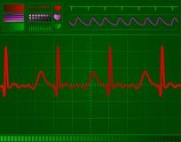 心脏监护器屏幕 向量例证