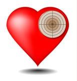 心脏目标 库存图片