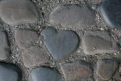 心脏石头 库存图片