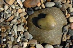 心脏石头 库存照片