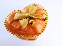 心脏礼物盒 免版税库存图片
