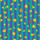 心脏秋天无缝的样式传染媒介 库存照片