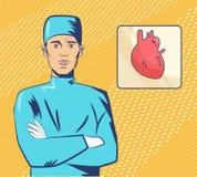 心脏科医师流行艺术 向量 皇族释放例证