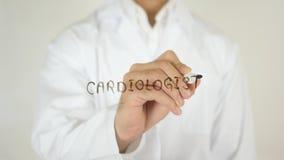 心脏科医师,写在玻璃 库存图片