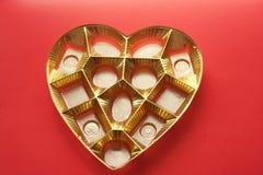 心脏箱子和锡 图库摄影