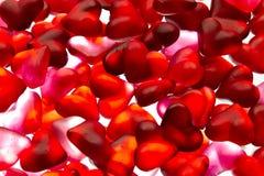 心脏糖果墙纸 免版税库存图片