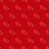 心脏红色无缝的背景 库存例证