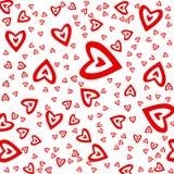 心脏红色装饰品 免版税库存照片