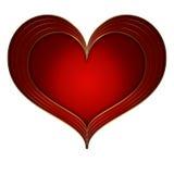 心脏红色金收藏 库存图片
