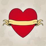 心脏纹身花刺。插入您的文本的地方 图库摄影