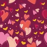 心脏美好的爱天样式 免版税库存照片