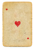 心脏老纸牌一点使用了被隔绝的纸背景 免版税库存照片