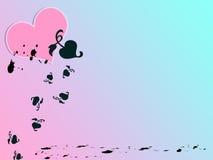 心脏背景样式纸 免版税库存照片