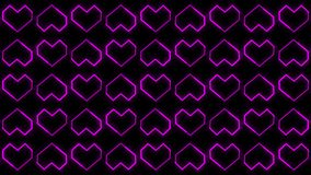 心脏背景行动以Valentine's天为特色的图表给形状和微粒赋予生命 皇族释放例证