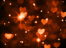 心脏背景boke照片,深红棕色颜色 抽象假日、庆祝和华伦泰背景 图库摄影