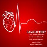 心脏脉冲横幅 库存例证