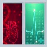心脏脉冲横幅 向量例证