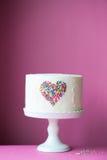 心脏蛋糕 免版税库存图片
