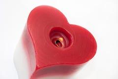 心脏蜡烛 免版税图库摄影
