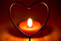 心脏蜡烛 库存图片