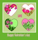 心脏装饰品背景情人节 向量例证
