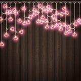 心脏装饰地方的形状灯木背景的 EPS 10向量 库存照片
