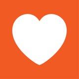 心脏象简单的传染媒介例证 免版税库存照片