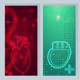 心脏起搏器横幅 向量例证