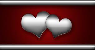 心脏银色收藏 免版税库存图片