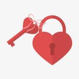心脏锁象 免版税库存图片