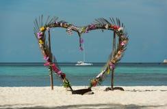 心脏门,酸值Lipe海岛-泰国 图库摄影
