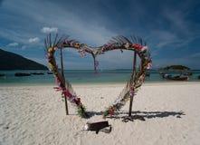 心脏门,酸值Lipe海岛-泰国 免版税库存图片