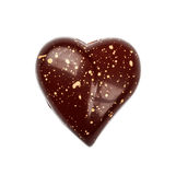 从心脏顶视图汇集形状的巧克力candie  库存照片