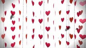 心脏,动画,情人节 股票录像
