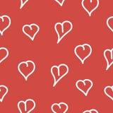 心脏,无缝的样式 库存照片
