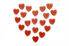 以心脏,特写镜头的形式心脏 免版税库存照片