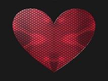 心脏, 3D例证 库存图片