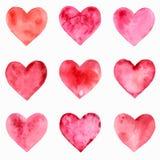 心脏水彩样式 库存照片