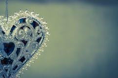 心脏水晶装饰 免版税图库摄影