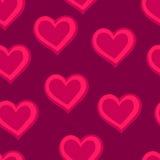 心脏 模式桃红色无缝 免版税库存图片