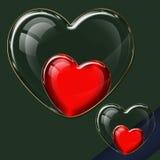 心脏玻璃汇集 库存照片