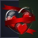 心脏玻璃汇集 免版税库存照片