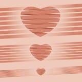 心脏origami桃红色背景传染媒介例证 免版税库存照片