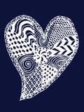 心脏zentangle 图库摄影