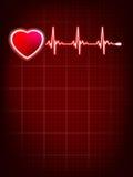心跳显示器心电图。EPS 10 免版税图库摄影