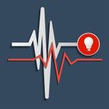心跳线,心电图 向量 库存图片