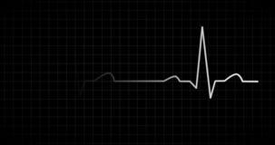 心跳EKG显示器白色 库存例证