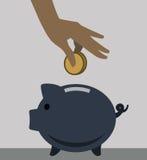 贪心银行的图标 免版税库存照片
